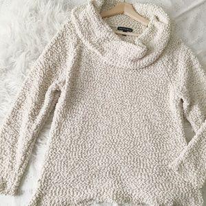 Cream Cozy Cowl Neck Sweater // Saks